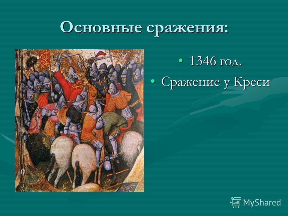 Основные сражения: 1346 год. Сражение у Креси