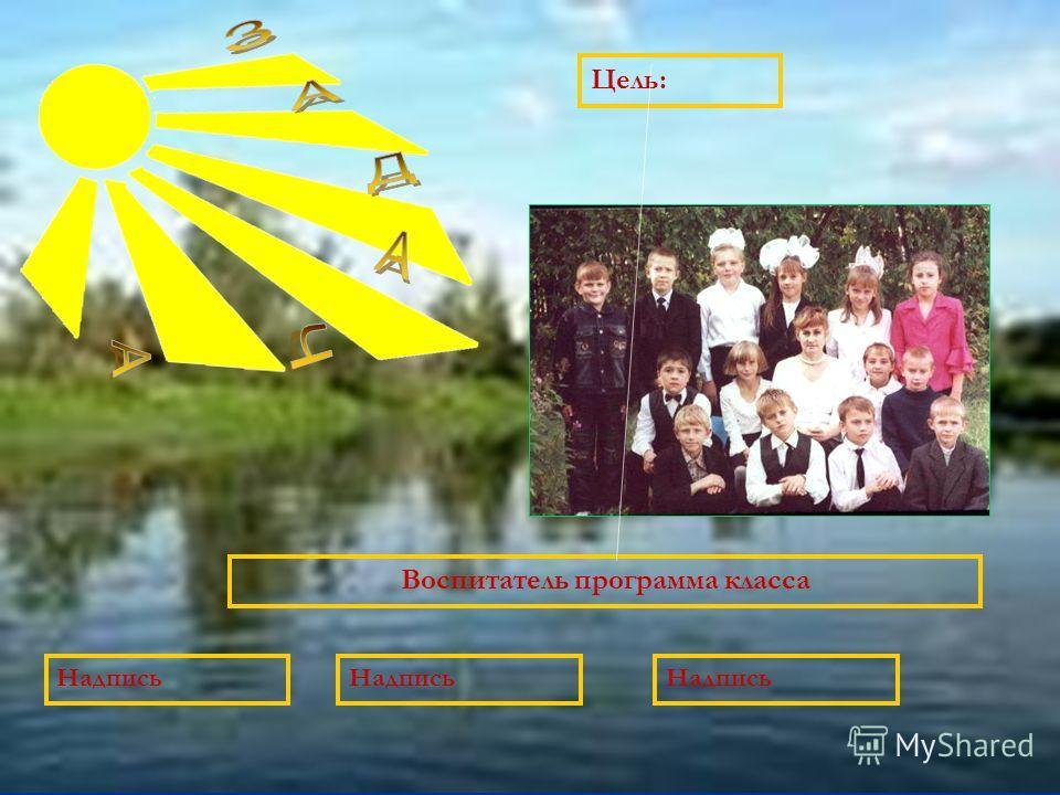 Цель: Воспитатель программа класса Надпись