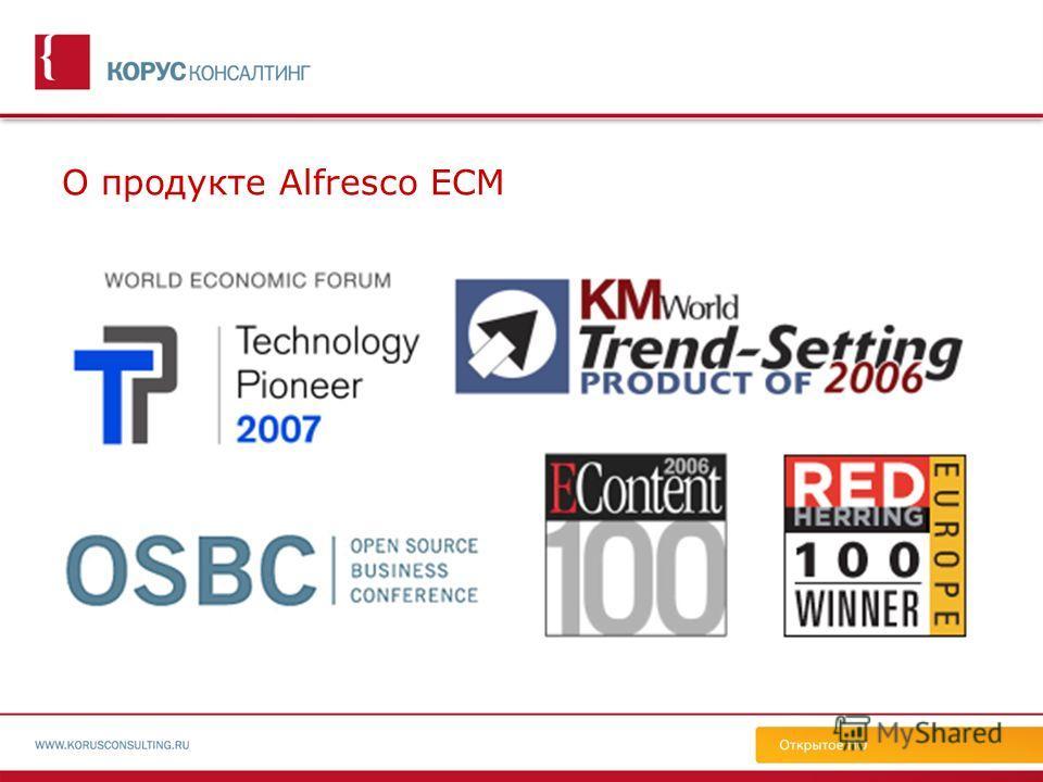 О продукте Alfresco ECM