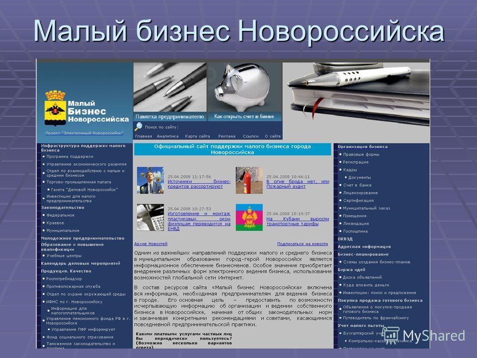 Малый бизнес Новороссийска