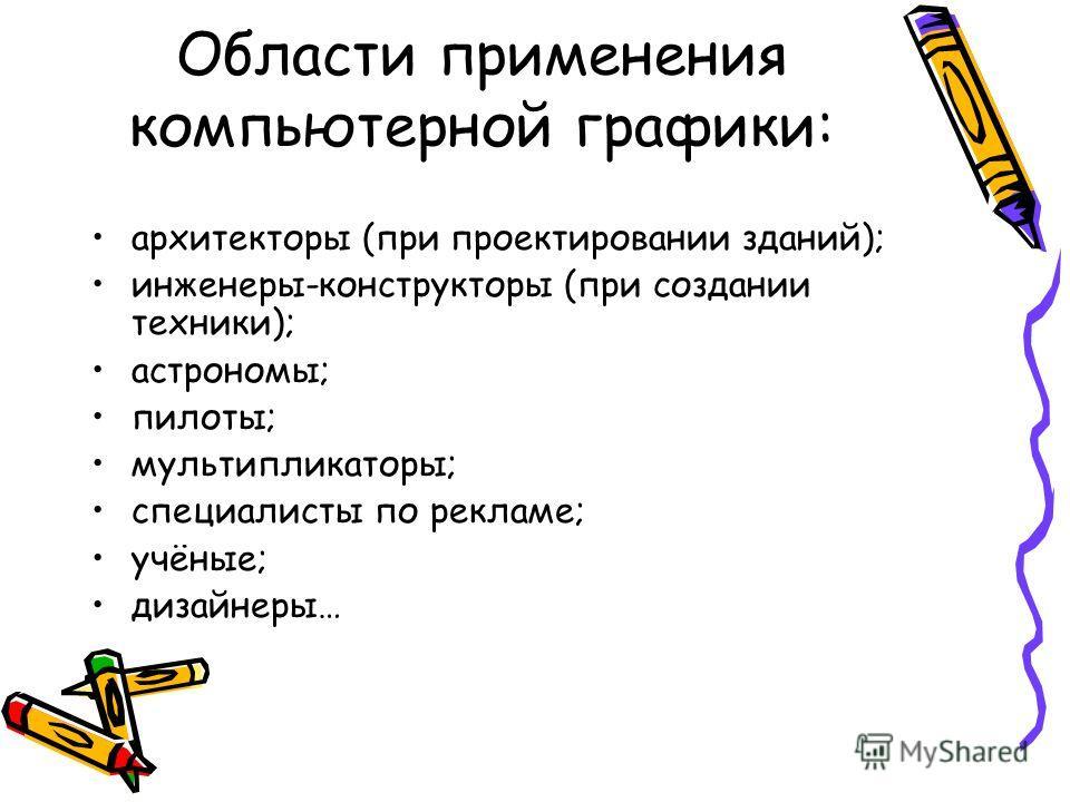 компьютерной графики: