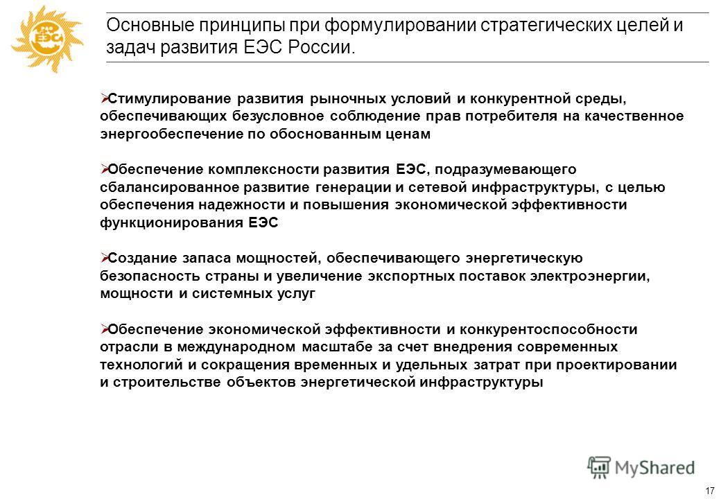 16 Формулирование стратегических целей и задач развития ЕЭС России до 2030 года и на перспективу до 2050 года. Формулирование стратегического видения ЕЭС, включающего в себя количественное и качественное описание*: –Рынка (внутренний рынок и экспорт)