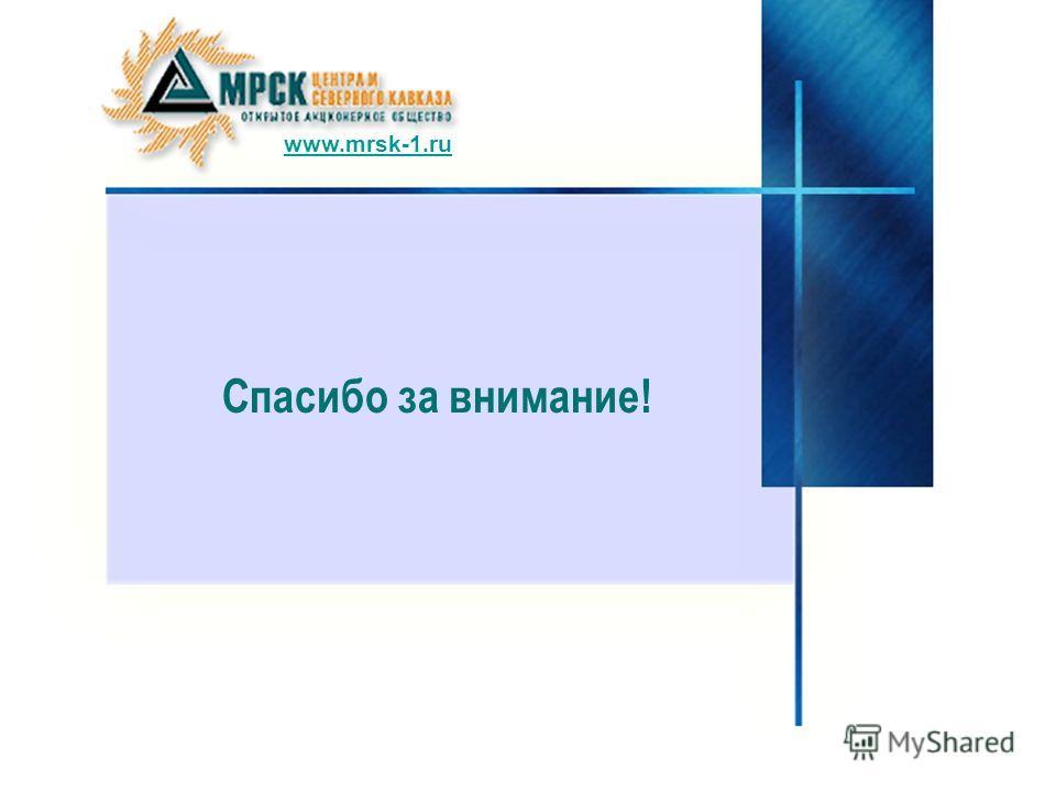 Спасибо за внимание! www.mrsk-1.ru