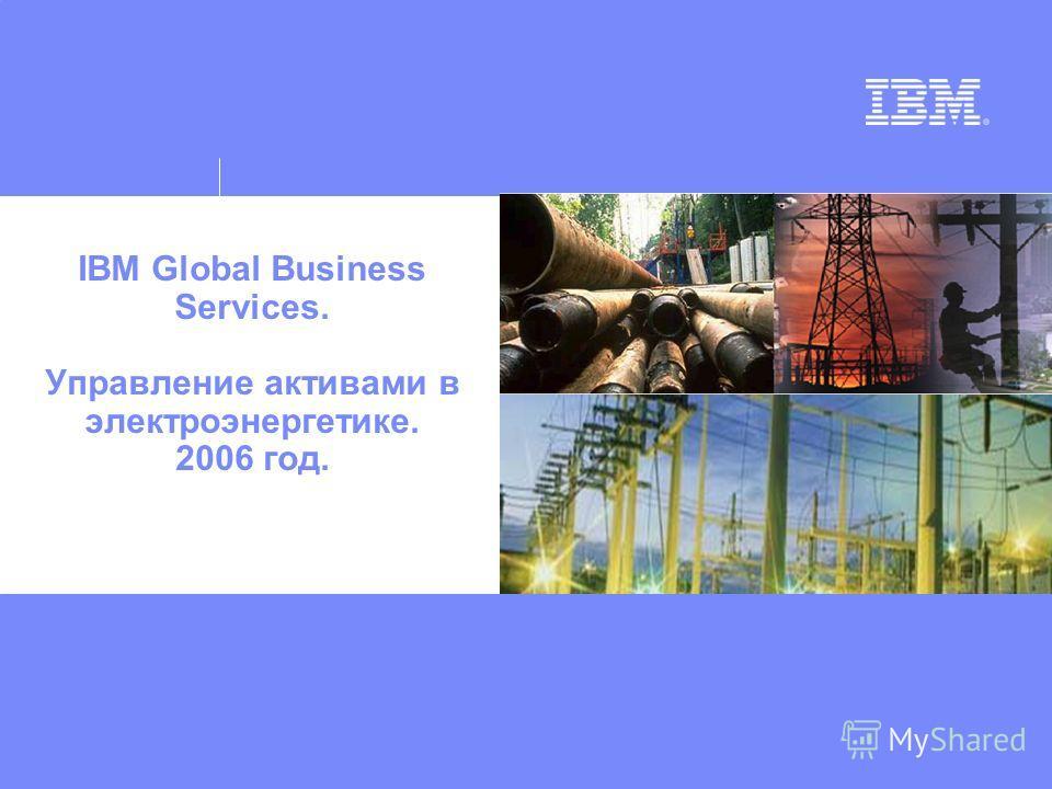 IBM Global Business Services. Управление активами в электроэнергетике. 2006 год.