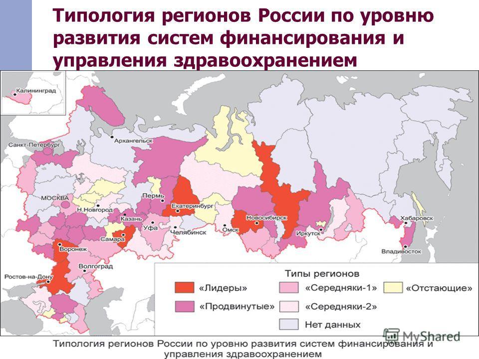 Типология регионов России по уровню развития систем финансирования и управления здравоохранением