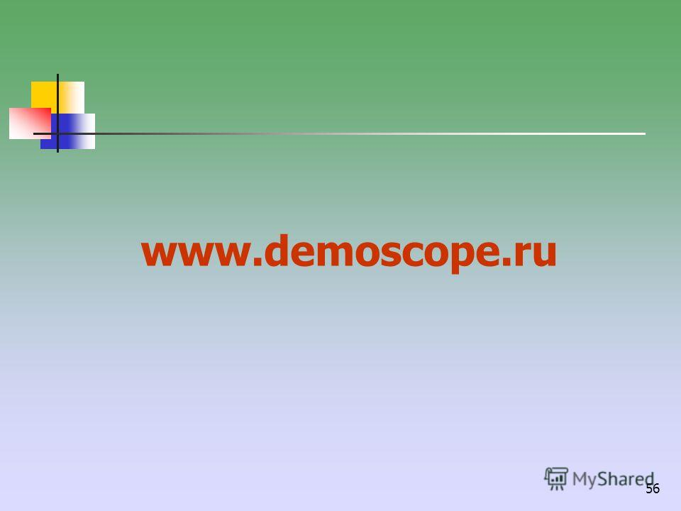 56 www.demoscope.ru