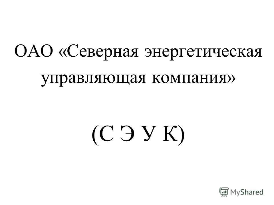 ОАО «Северная энергетическая управляющая компания» (С Э У К)
