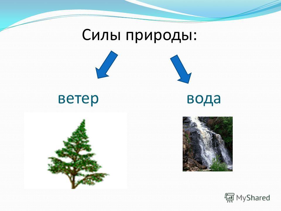 Силы природы: ветер вода