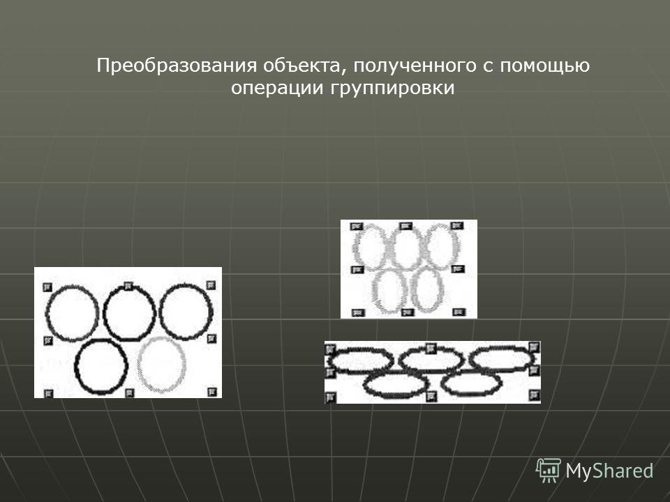 Преобразования объекта, полученного с помощью операции группировки