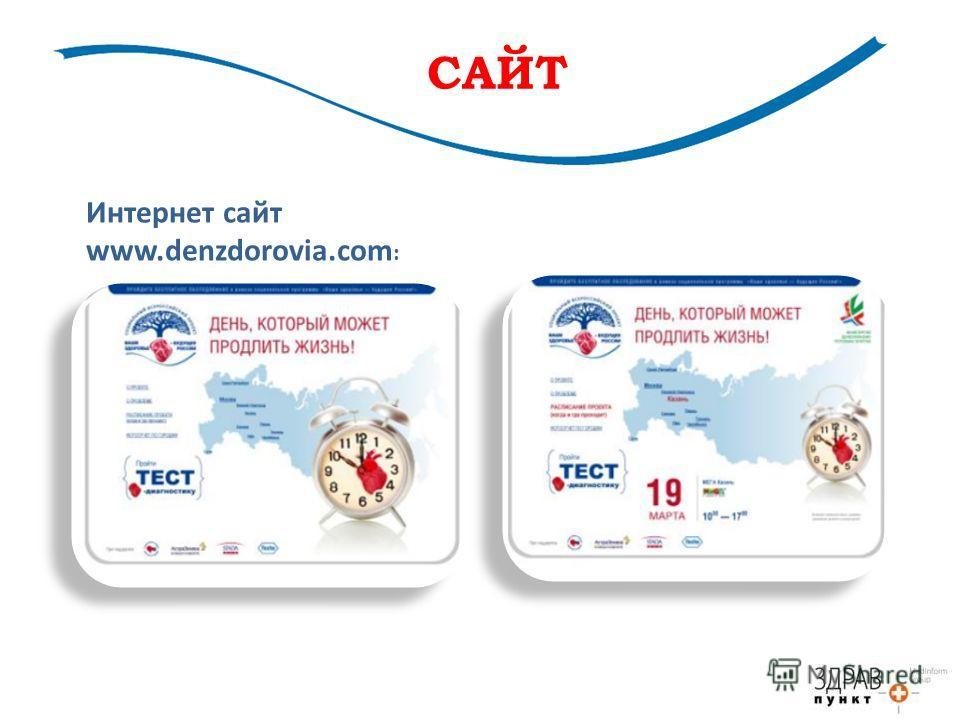 САЙТ Интернет сайт www.denzdorovia.com :