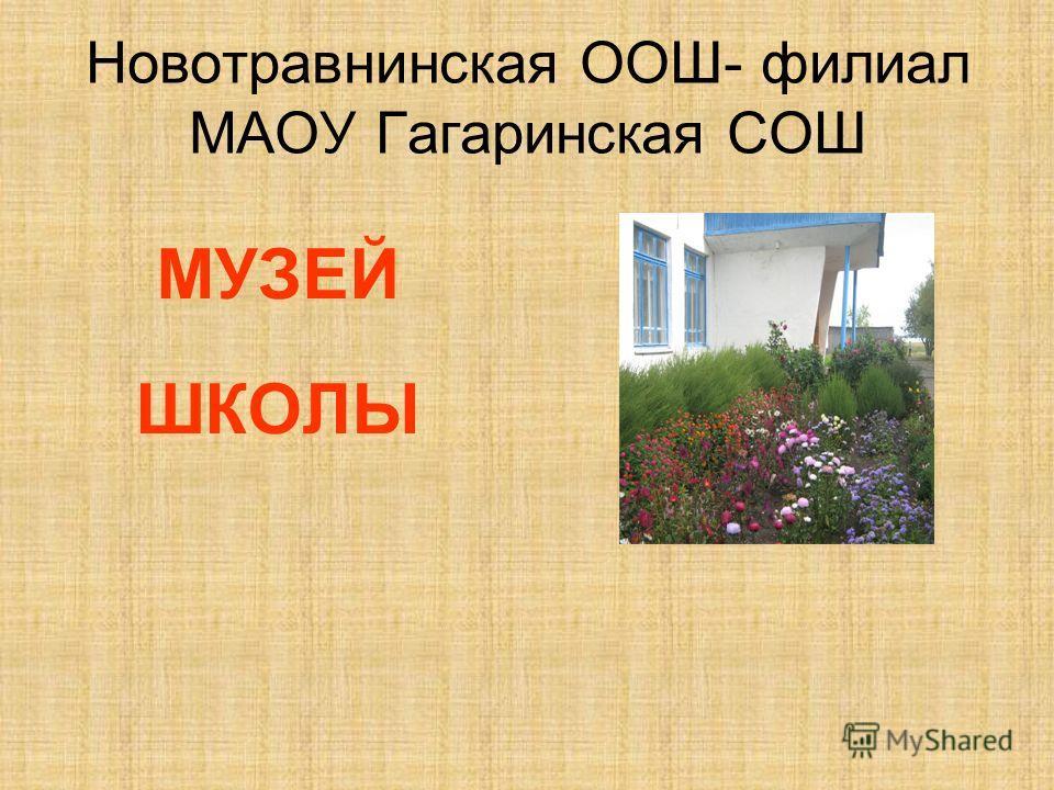 Новотравнинская ООШ- филиал МАОУ Гагаринская СОШ МУЗЕЙ ШКОЛЫ