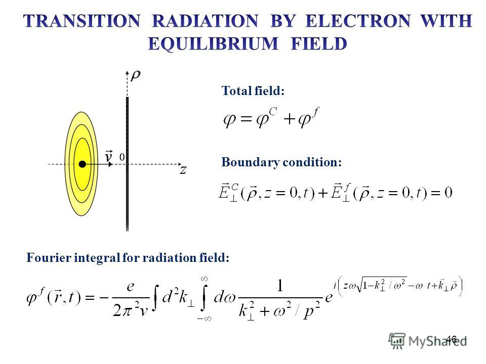 46 Total field: Boundary condition: Fourier integral for radiation field: