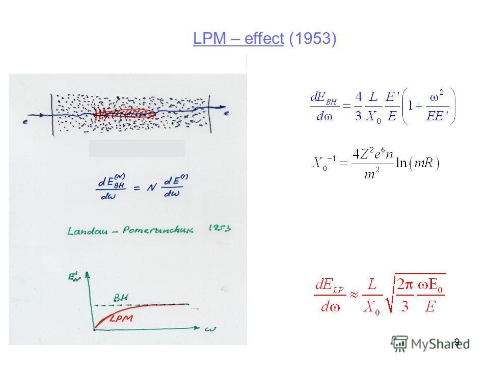 9 LPM – effect (1953)