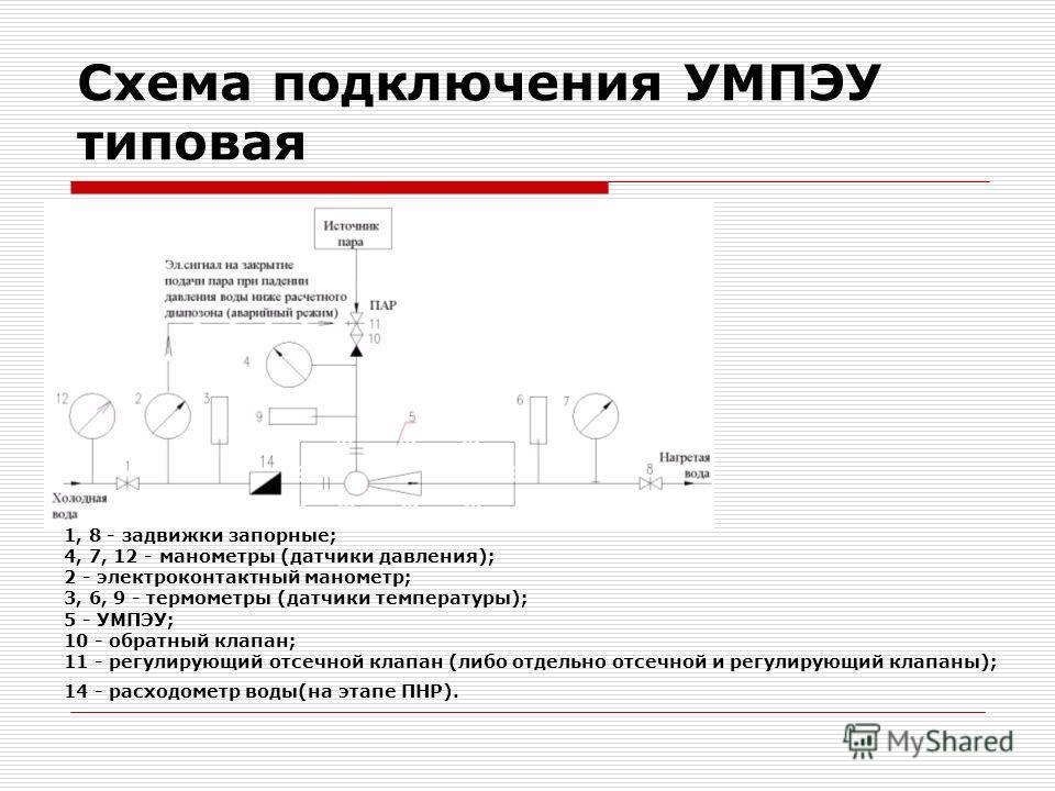 Схема подключения УМПЭУ