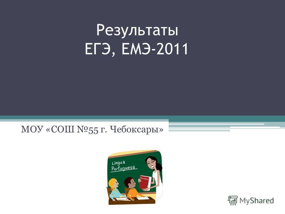 Результаты ЕГЭ, ЕМЭ-2011 МОУ «СОШ 55 г. Чебоксары»