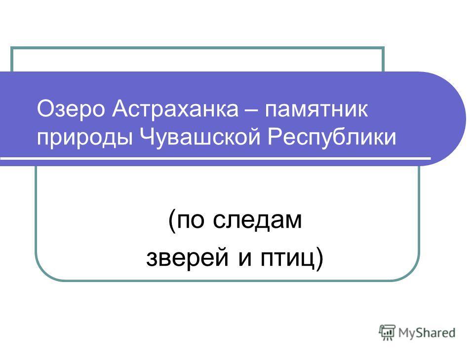 Озеро Астраханка – памятник природы Чувашской Республики (по следам зверей и птиц)