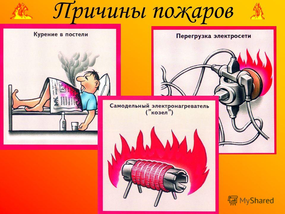 СОШ 40 Причины пожаров