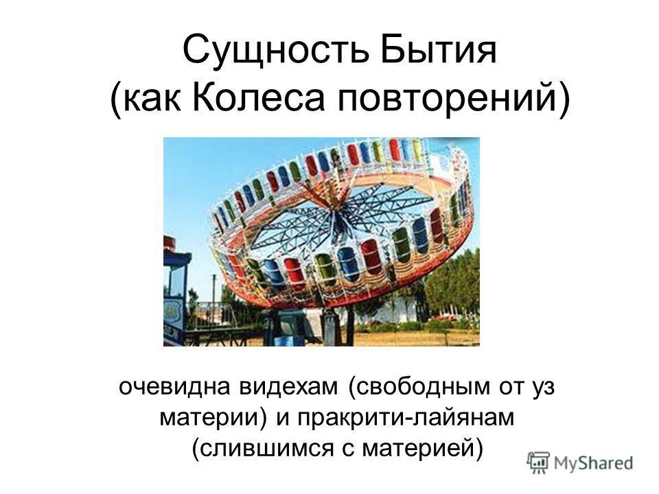 Сущность Бытия (как Колеса повторений) очевидна видехам (свободным от уз материи) и пракрити-лайянам (слившимся с материей)