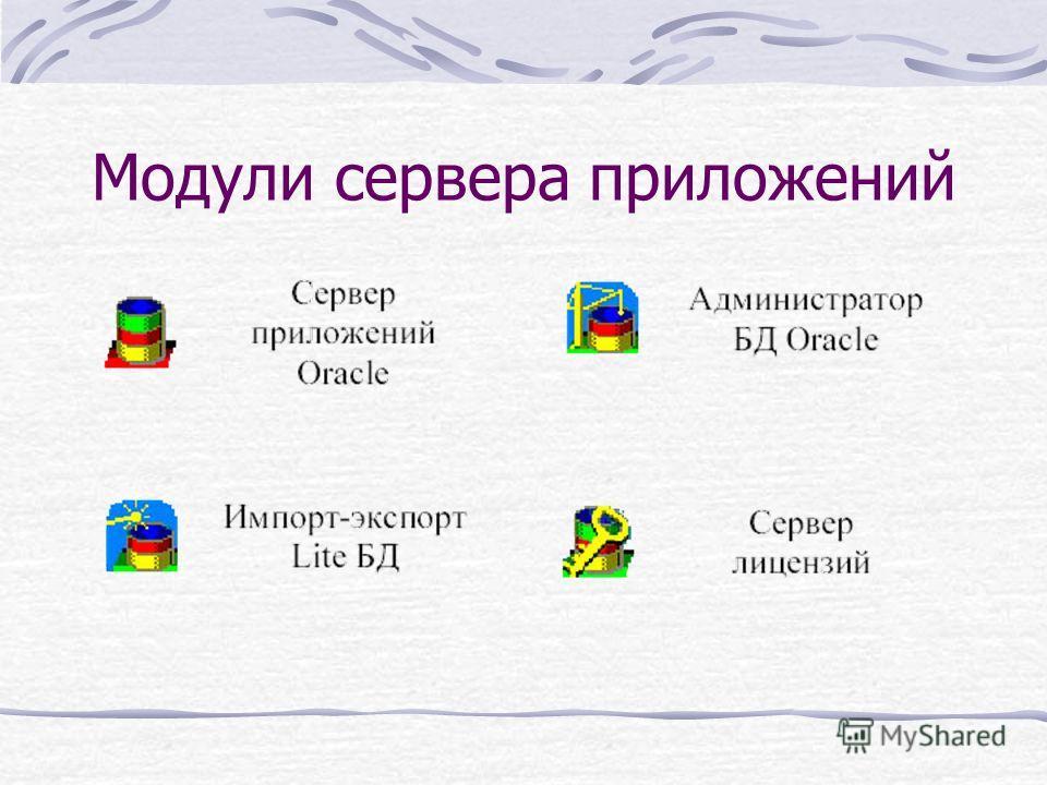 Модули сервера приложений