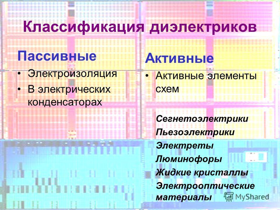 Активные элементы схем