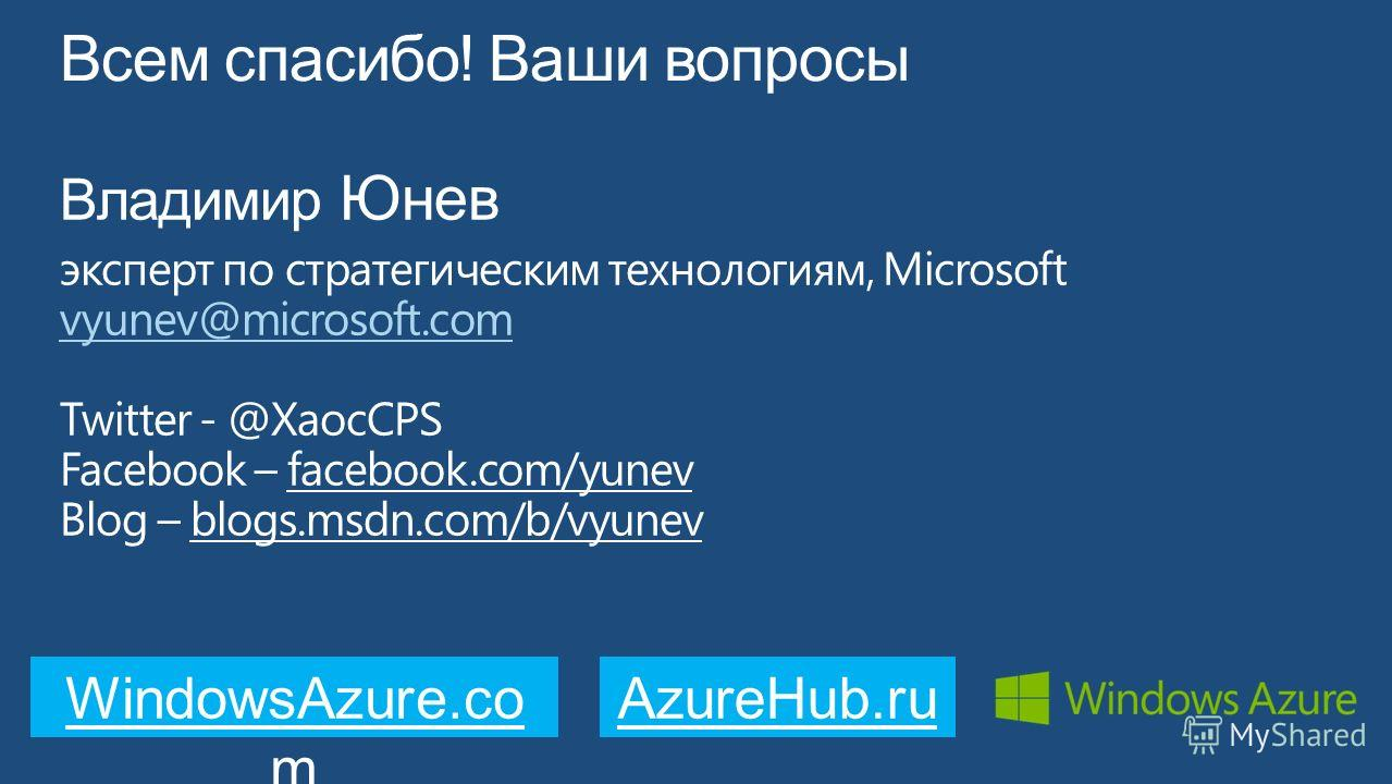 WindowsAzure.co m AzureHub.ru