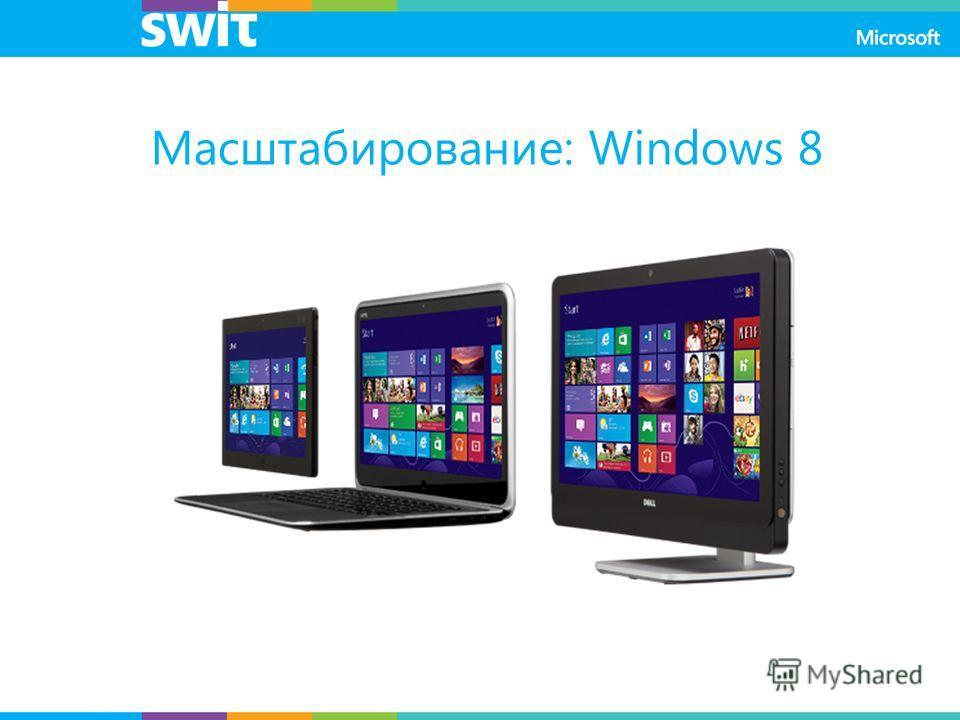 Масштабирование: Windows 8