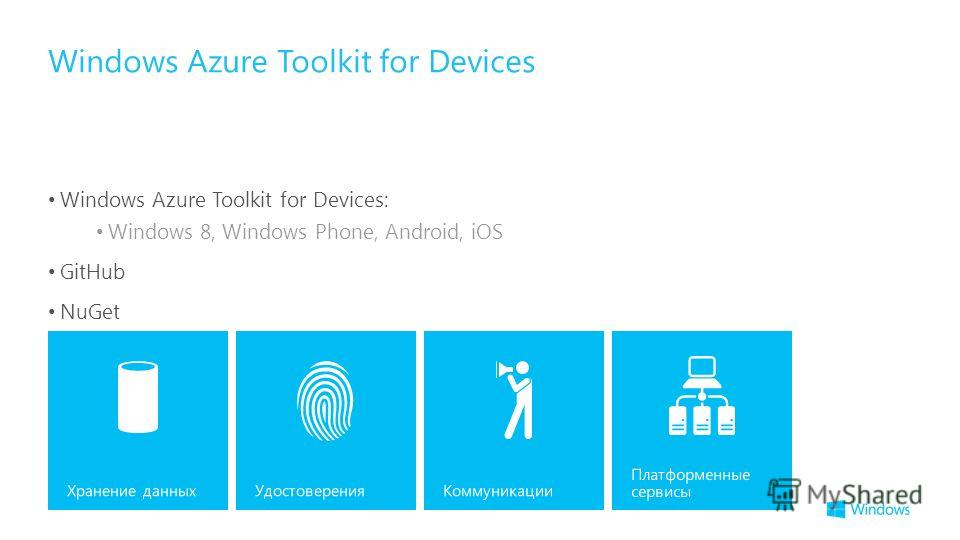 Windows Azure Toolkit for Devices: Windows 8, Windows Phone, Android, iOS GitHub NuGet Windows Azure Toolkit for Devices
