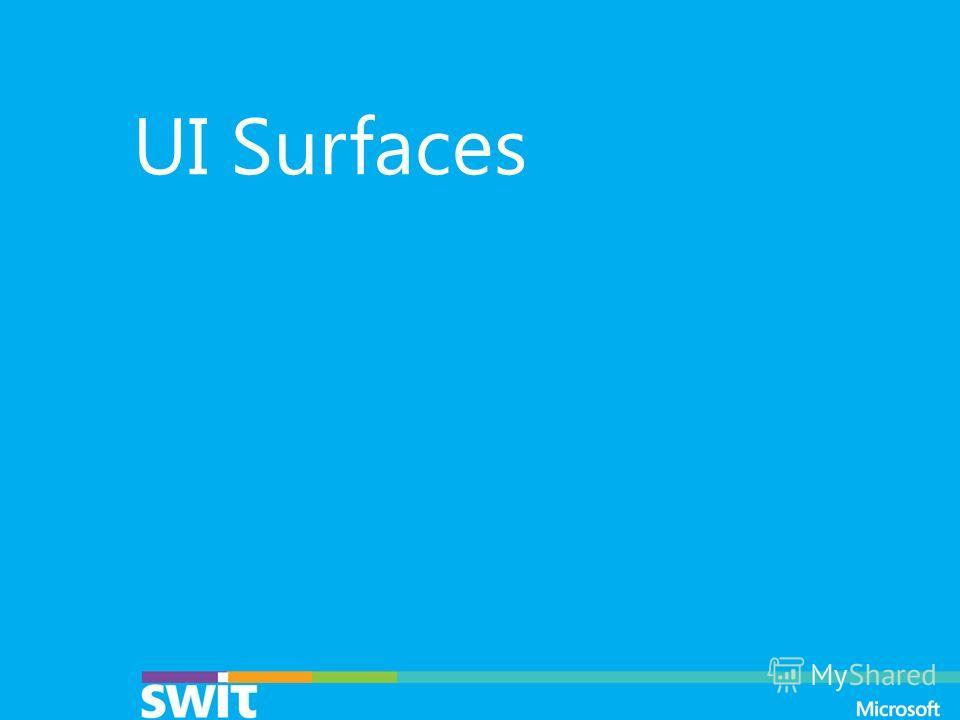 UI Surfaces