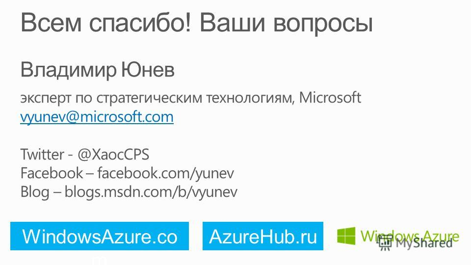 WindowsAzure.comAzureHub.ru