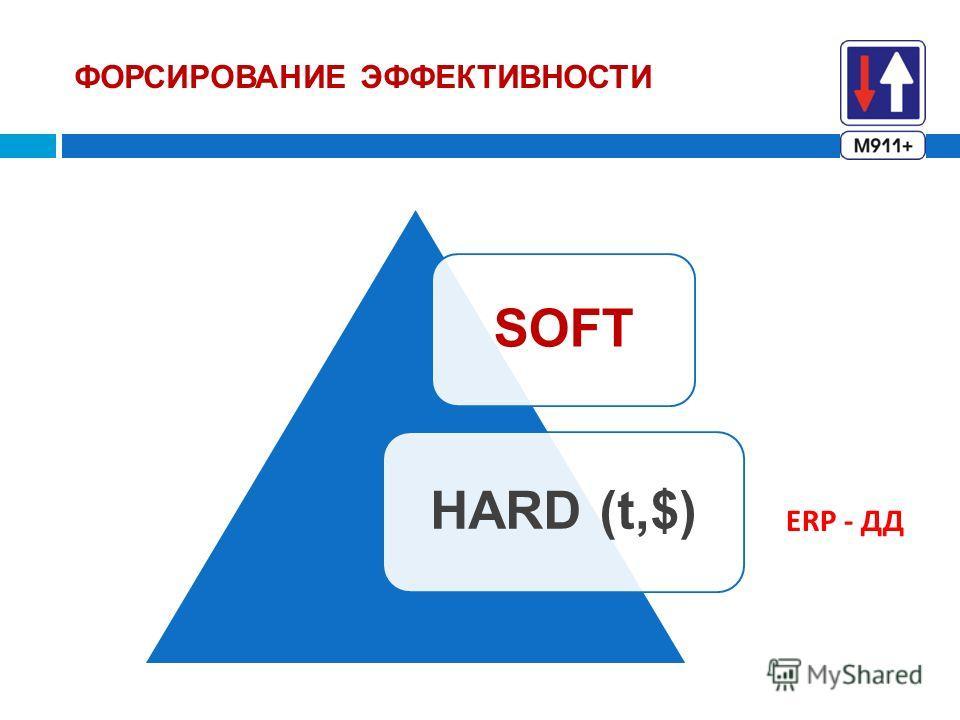ФОРСИРОВАНИЕ ЭФФЕКТИВНОСТИ SOFT HARD (t,$) ERP - ДД