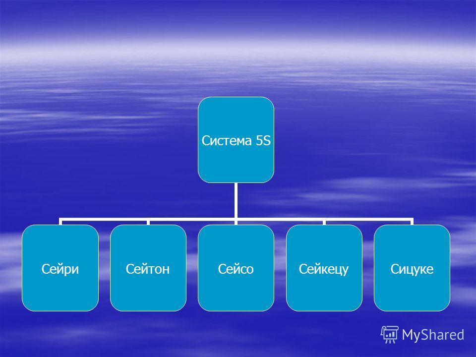 Система 5S СейриСейтонСейсоСейкецуСицуке