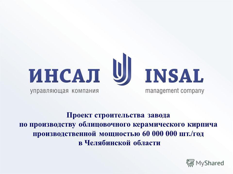 Проект строительства завода по производству облицовочного керамического кирпича производственной мощностью 60 000 000 шт./год в Челябинской области