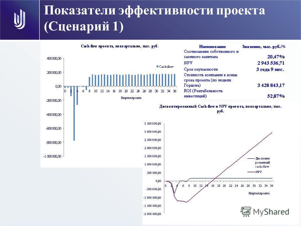 Показатели эффективности проекта (Сценарий 1)