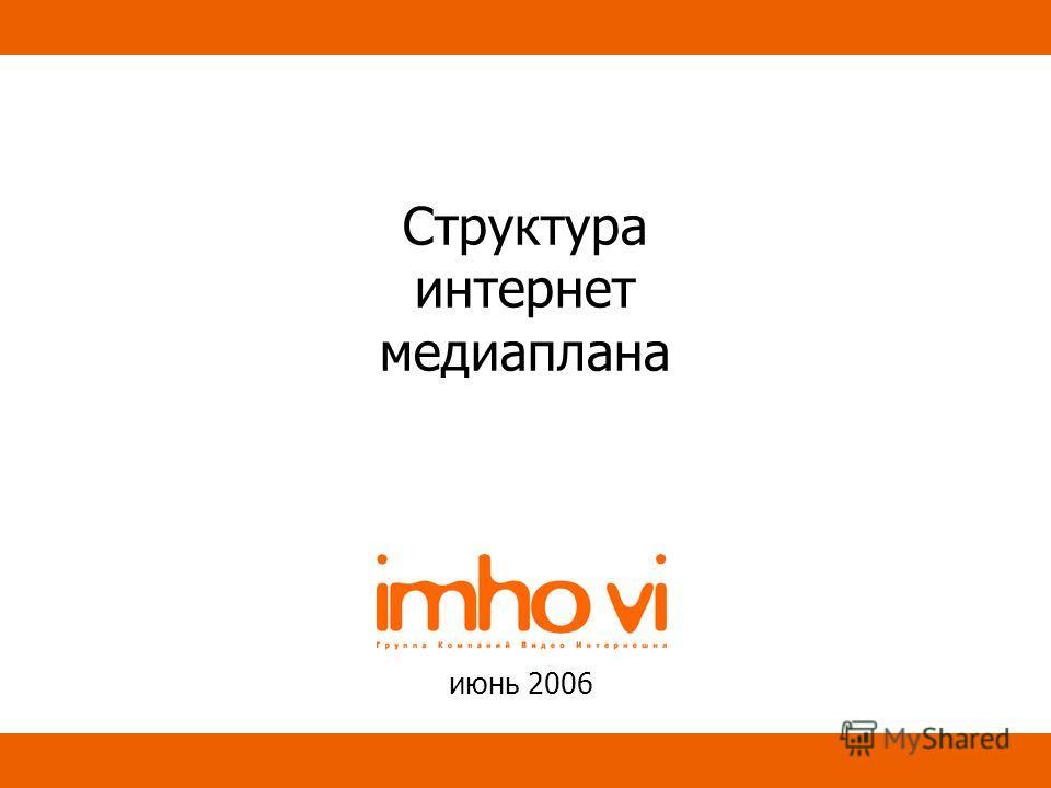 Структура интернет медиаплана июнь 2006