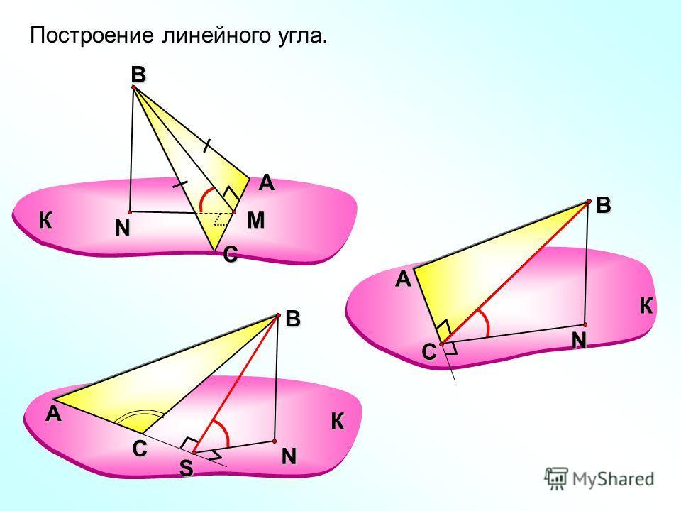А СВN КM АВN К С АВN К С S Построение линейного угла.