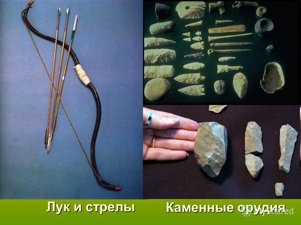 Лук и стрелы Каменные орудия
