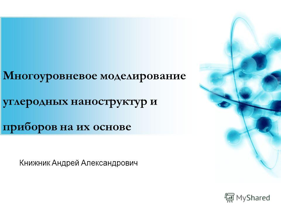 Книжник Андрей Александрович Многоуровневое моделирование углеродных наноструктур и приборов на их основе