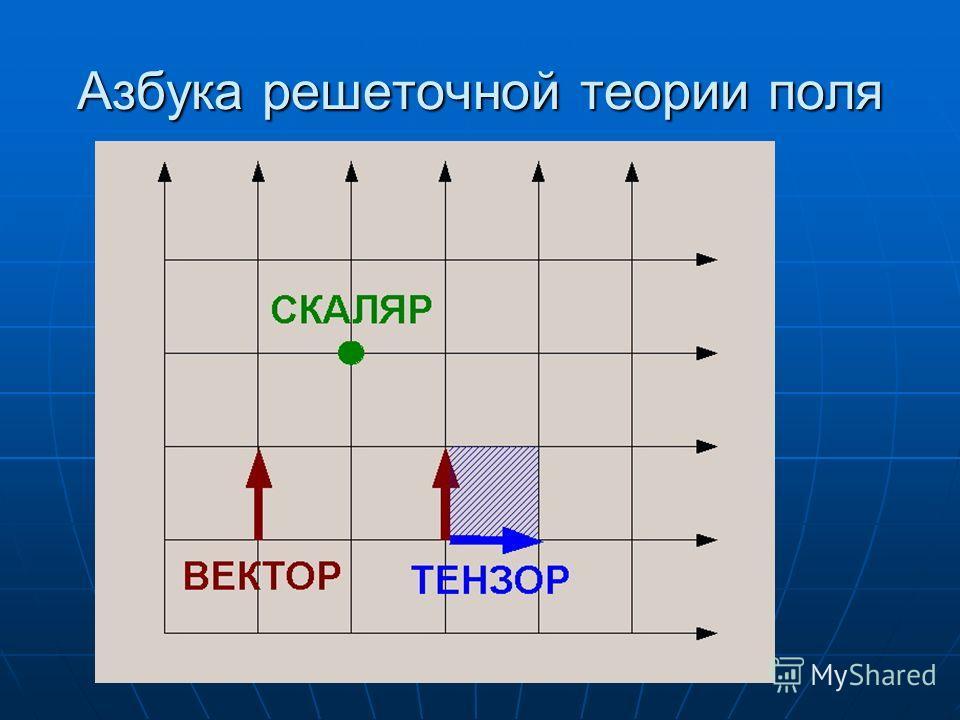 Азбука решеточной теории поля