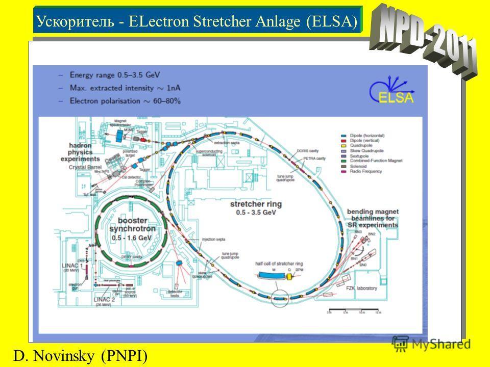 Ускоритель - ELectron Stretcher Anlage (ELSA) D. Novinsky (PNPI)