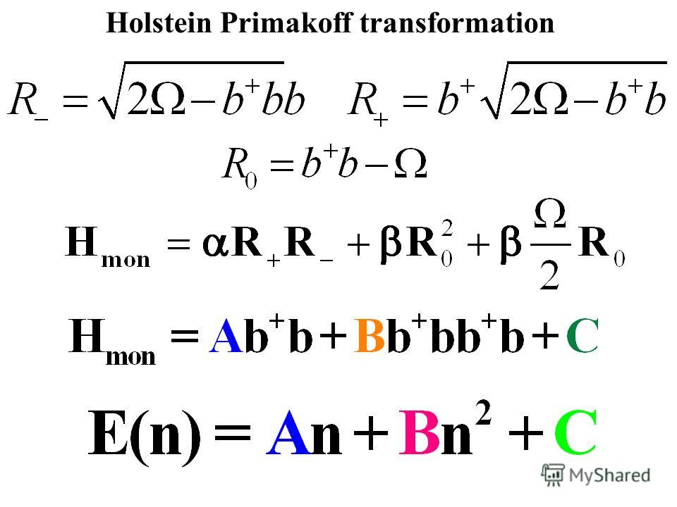 Holstein Primakoff transformation