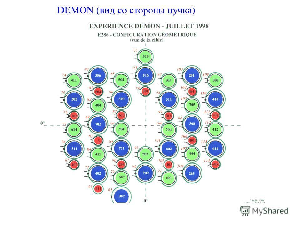 DEMON (вид со стороны пучка)