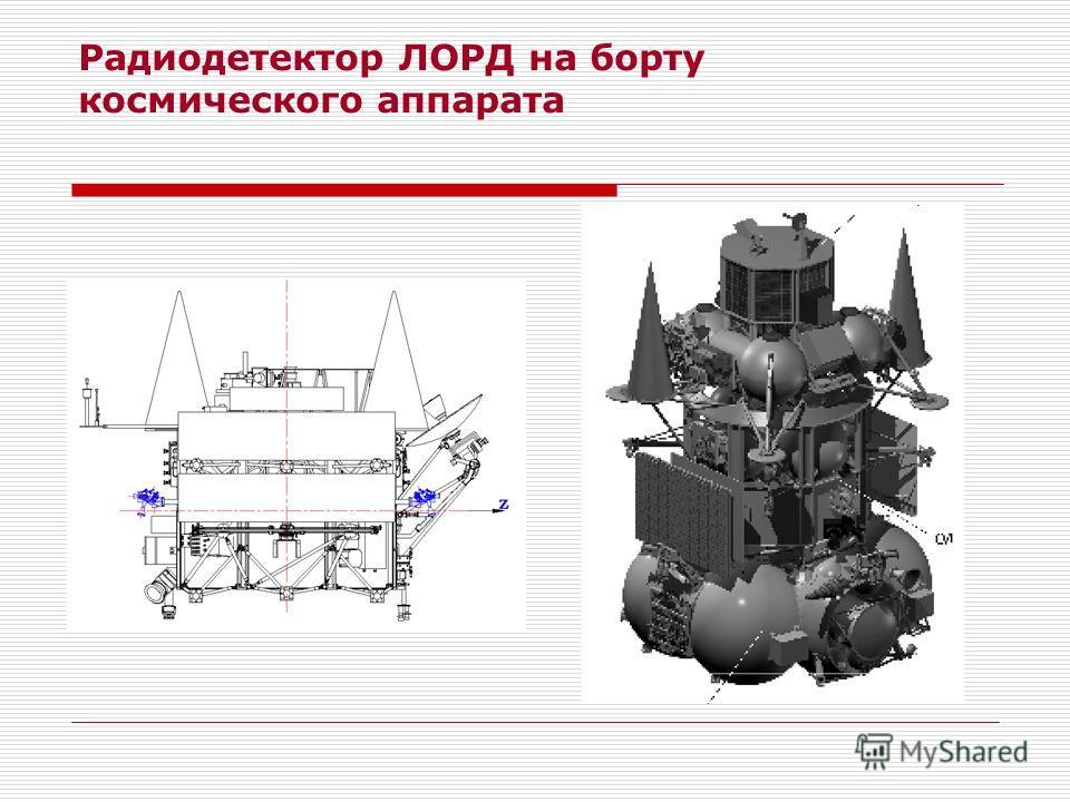 Радиодетектор ЛОРД на борту космического аппарата