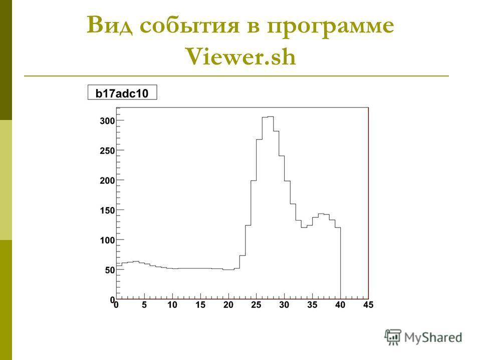 Вид события в программе Viewer.sh