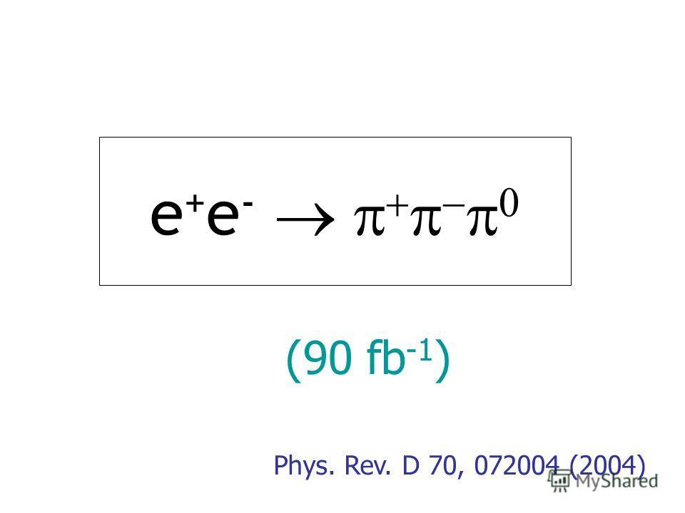 e + e - Phys. Rev. D 70, 072004 (2004) (90 fb -1 )