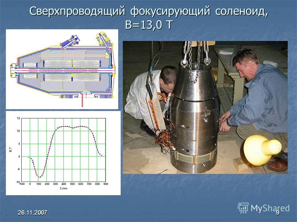 26.11.20079 Сверхпроводящий фокусирующий соленоид, B=13,0 Т