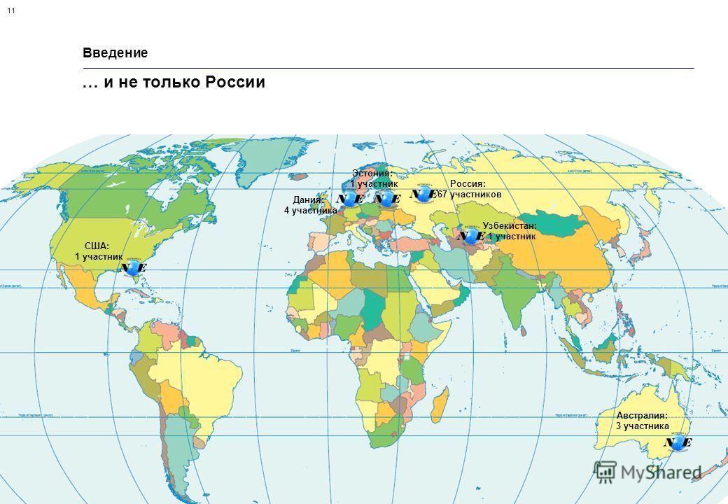 11 Сеть мастерства – новая форма организации исследований в области маркетинга взаимоотношений. Октябрь 2007 г. Введение … и не только России Дания: 4 участника Эстония: 1 участник Австралия: 3 участника Россия: 67 участников Узбекистан: 1 участник С