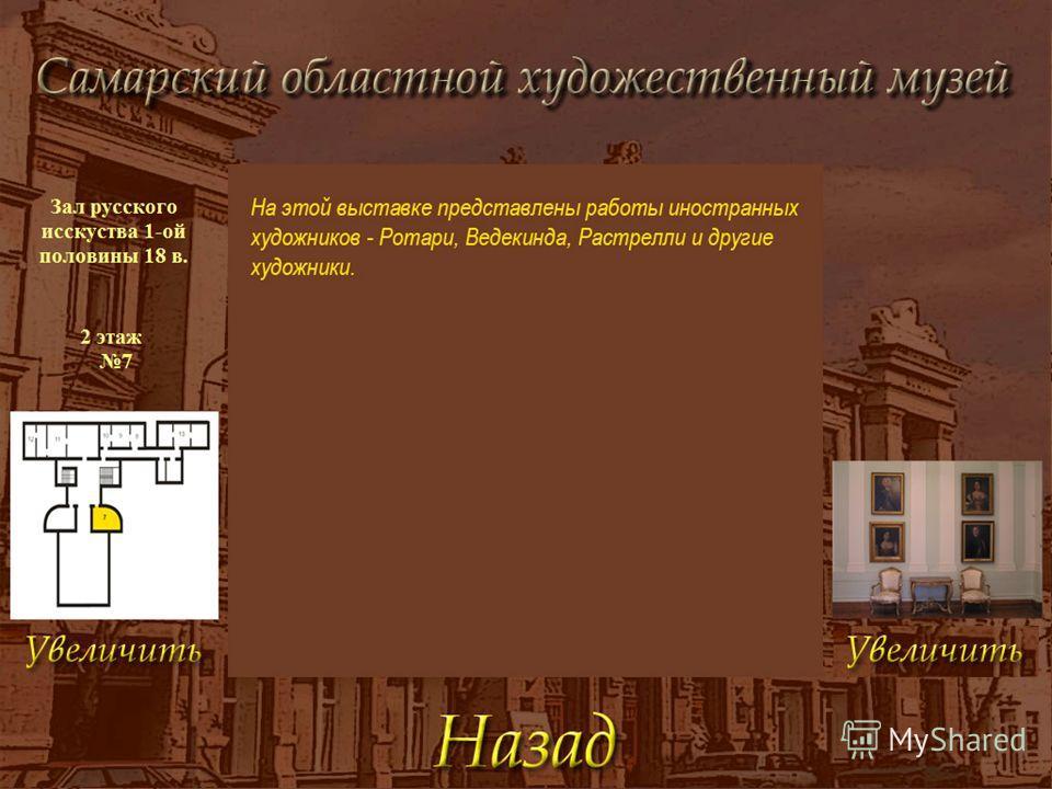 Навигация по музею Пример одной из экспозиций