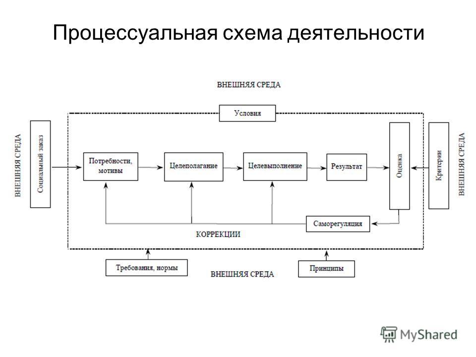 Процессуальная схема деятельности