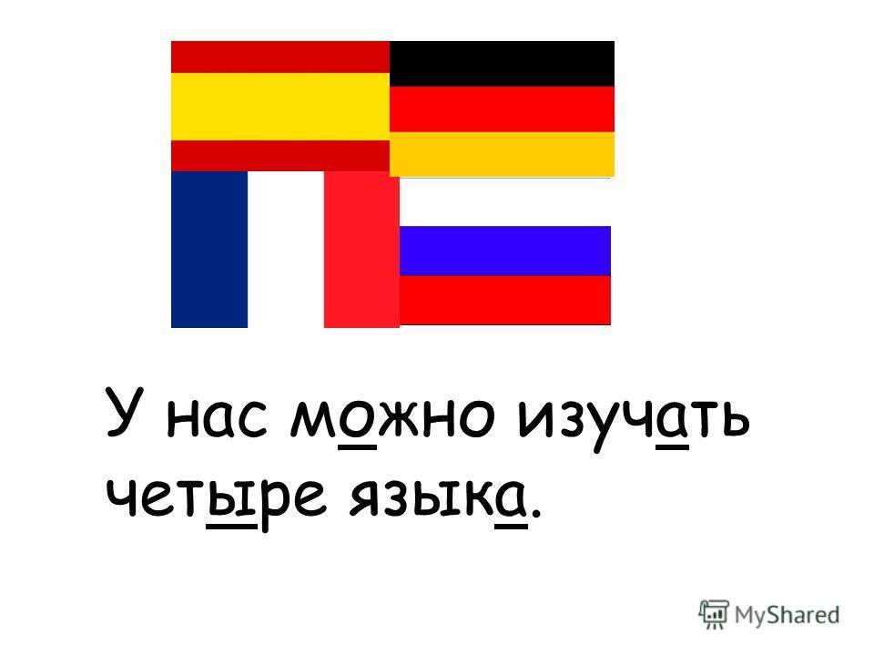 У нас можно изучать четыре языка.