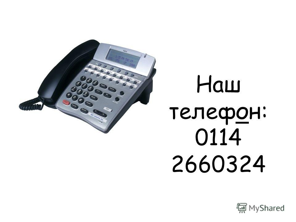 Наш телефон: 0114 2660324